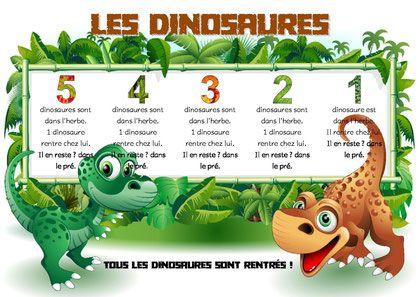Décomposer le nombre 5-comptine des dinosaures