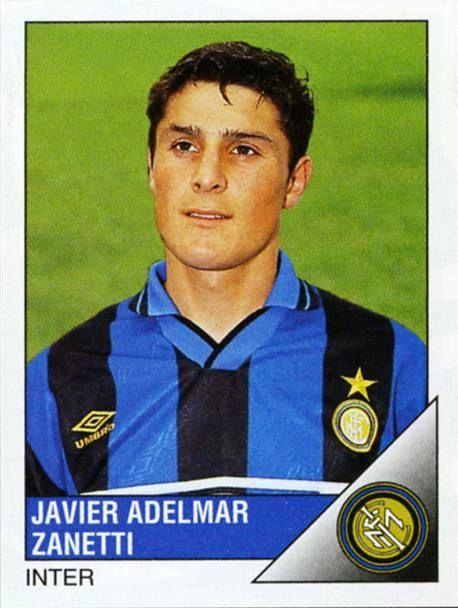 Javier Zanetti con la maglia dell'Inter nella stagione 1995-96: 39 presenze, 2 gol