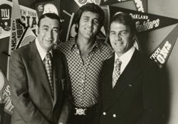 Monday Night Football broadcasters Howard Cosell and Frank Gifford
