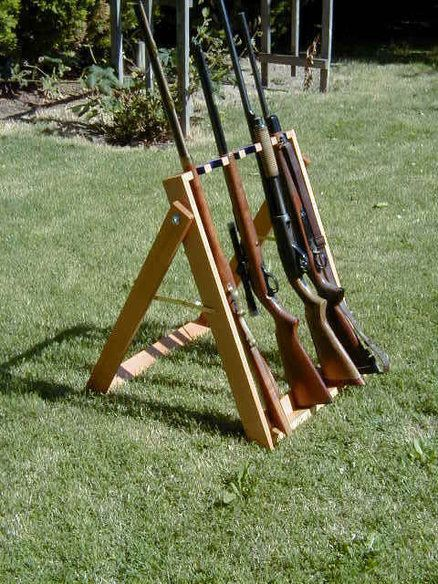 Rack'em. Great idea for shooting on your property. But a portable table will suffice.