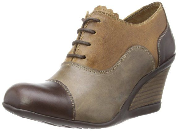 Fly London Women's Jiva Dark Brown/Camel Court Shoes P142759003 4 UK, 37 EU: Amazon.co.uk: Shoes & Bags
