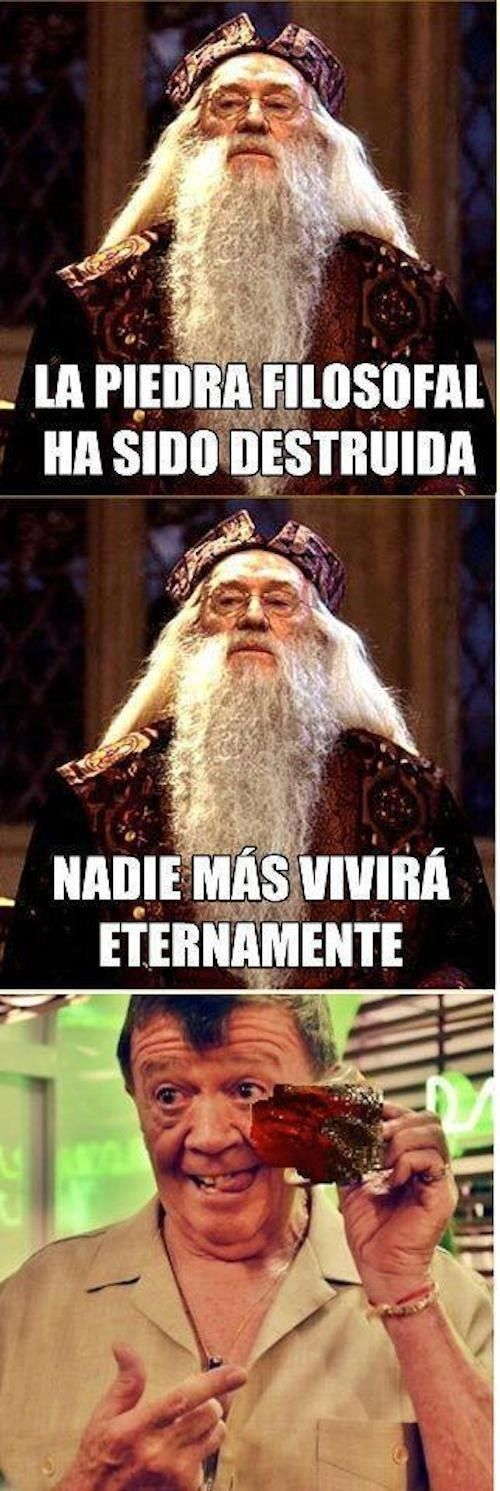 Ni Dumbledore pudo contar con la astucia del gran Chabelo.