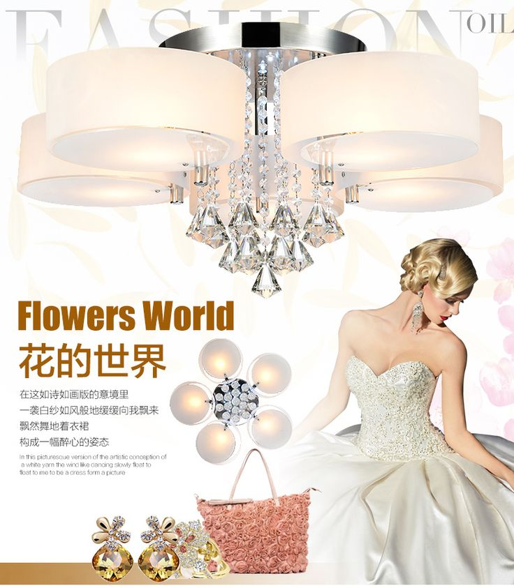 authentic modern minimalist living room light crystal chandeliers and warm bedroom ceiling lamp LED restaurant lighting-in Ceiling Lights from Lights & Lighting on Aliexpress.com | Alibaba Group