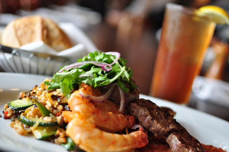 Lemon rosemary chicken, beef tenderloin and seasoned shrimp skewers ...
