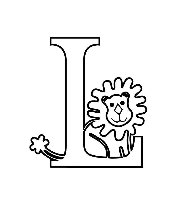 Alphabet Letter L Coloring For Kids