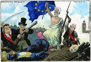 Steve Bell on Jeremy Corbyn's EU stance –cartoon   Opinion   The Guardian