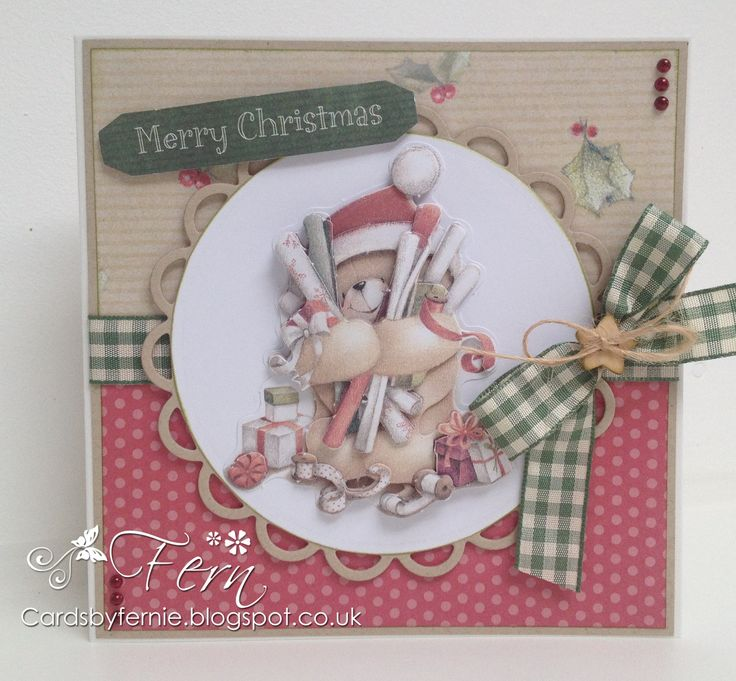 Forever Friends Kraft Notes Christmas Card -http://cardsbyfernie.blogspot.co.uk/2014/07/forever-friends-kraft-notes-christmas.html