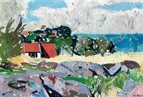 Coastal landscape Bornholm by Olaf Rude