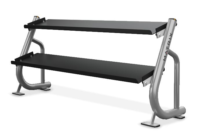 2-tier Flat-tray Dumbbell Rack (1.8 m / 6') MG-A697