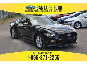 2017 Black Ford Mustang V6 37675P