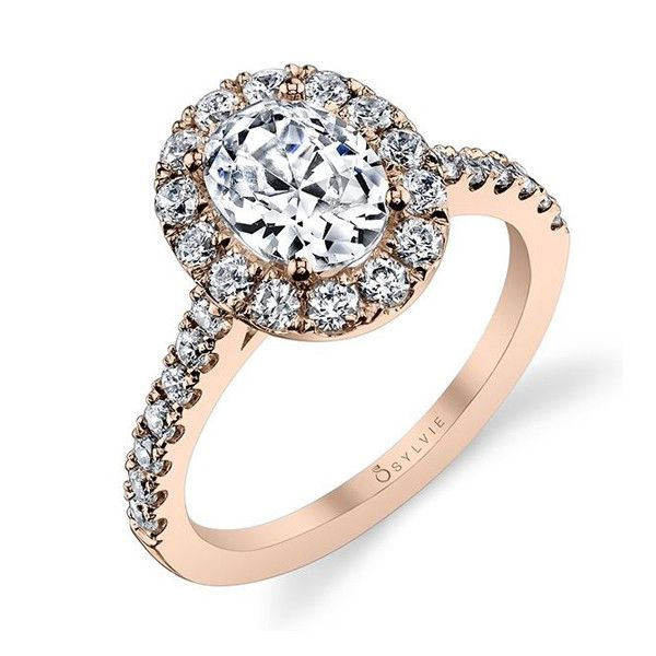 Ovals are in! We love this Sylvie Oval Halo Engagement Ring S1199-Andrews Jewelers WNY