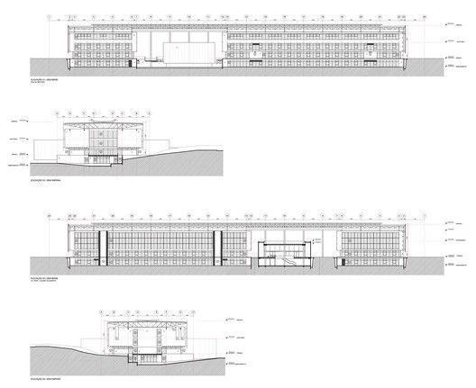 Brasiliana Library,Elevações (sem brise e sem empena)