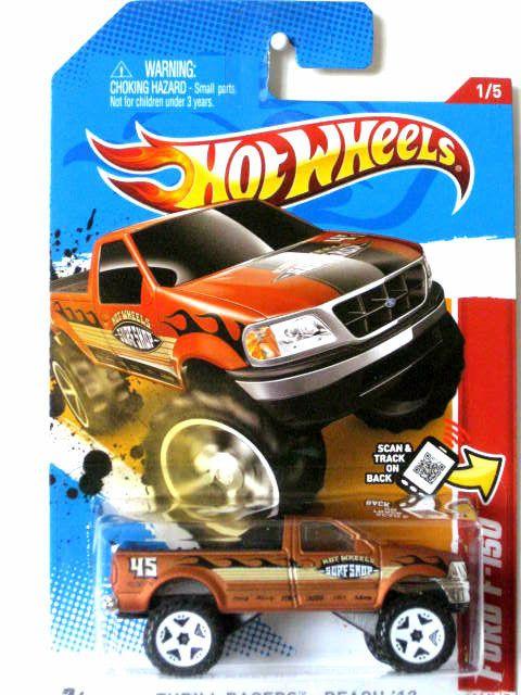 2012 Hot Wheels Ford F 150 Truck Thrill Racers Beach