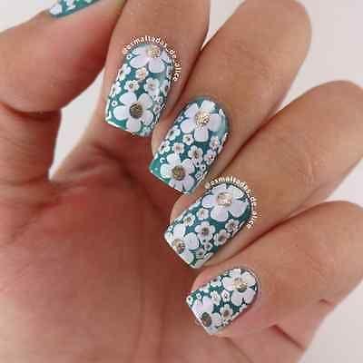 Born Pretty Para Uñas Stamping plantilla imagen placas manicura Diseño De Flores BP20