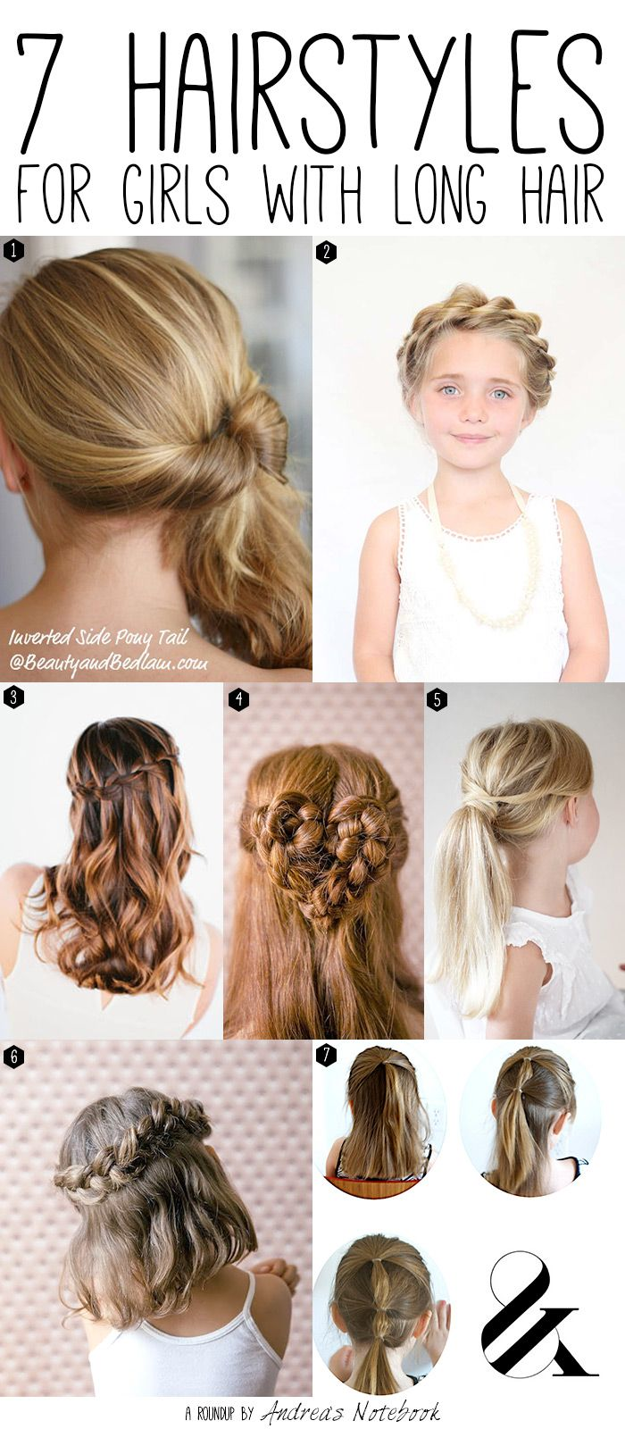 7 hairstyles for girls with long hair