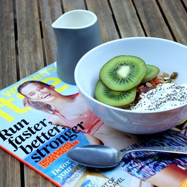 Good morning!! My morning has been made great thanks to @thislittlepigwenttomarket homemade granola with @fiveamorganics honey and cinnamon yoghurt and a @womensfitnessmag! Enjoy your Friday! xx