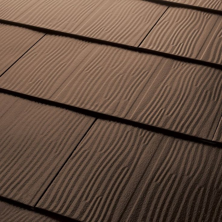 Achilles Metal Roofing   Embossed Shingles Collection Dark Brown / 28 Gauge
