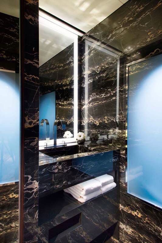 7 best images about portoro gold on pinterest for Stone bathroom bin