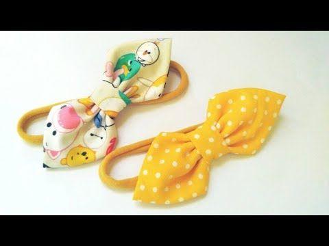 Baby Headband Ideas : Simple Bow Headband | DIY by Elysia Handmade - YouTube