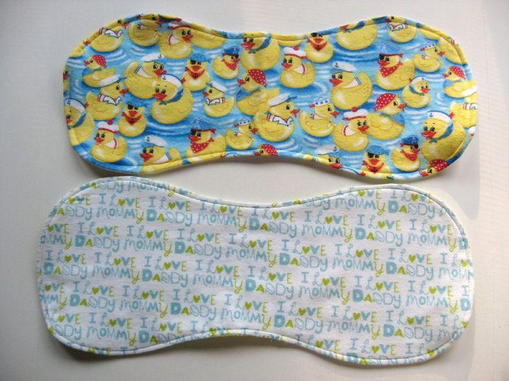 Ready To Ship - Flannel Baby Burp Cloths Set - I Love Mommy & Daddy Burp Cloth - Rubber Duckies Burp Cloth - Gender Neutral Birth Cloths Set by GrandmaLindasHouse on Etsy