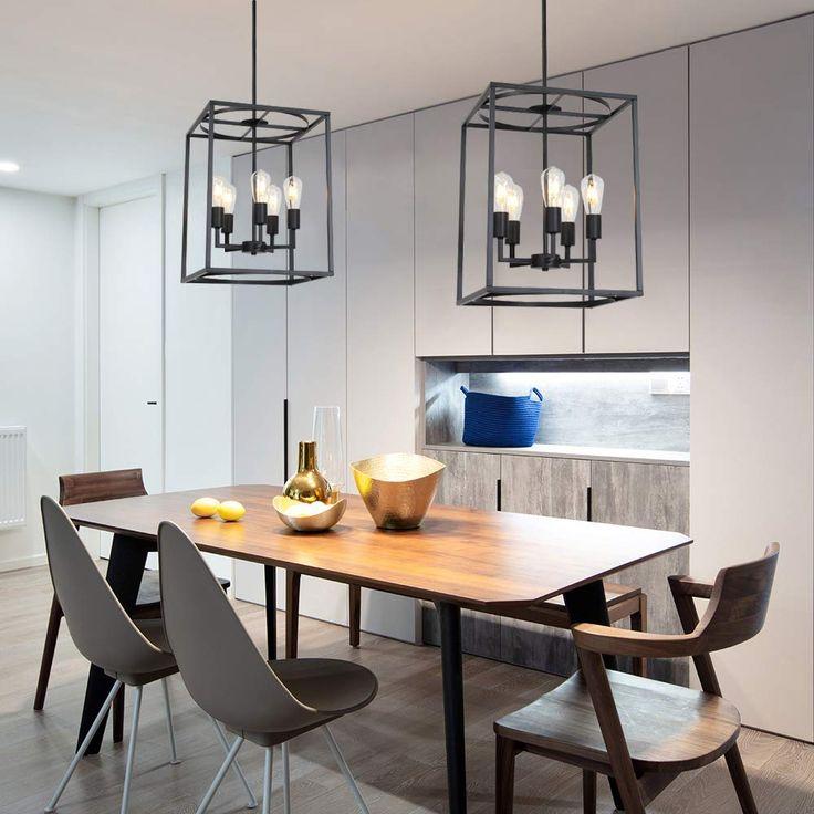 12 Rustic Dining Room Ideas: BONLICHT 5 Light Large Farmhouse Chandelier Rustic Dining