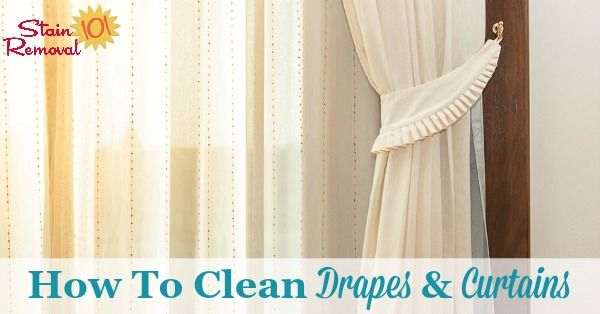 How To Clean Drapes Amp Curtains