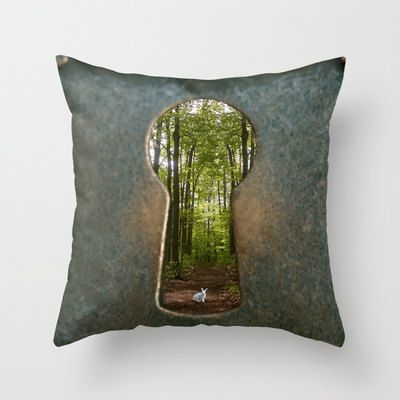 Alice in Wonderland Follow Me Pillow Cover Made to by PhotoReverie, $38.00
