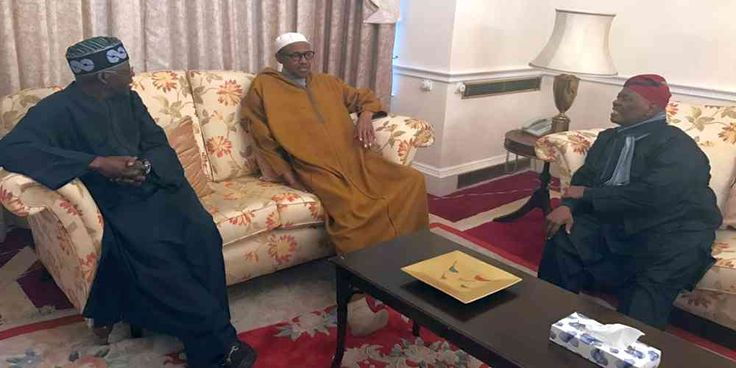"Top News: ""NIGERIA POLITICS: Bola Tinubu Visits Buhari in London"" - http://politicoscope.com/wp-content/uploads/2017/02/Asiwaju-Bola-Ahmed-Tinubu-Buhari-and-Chief-Bisi-Akande-in-Abuja-House-London.jpg - Bola Tinubu, national leader of the All Progressives Congress (APC), is currently meeting with President Muhammadu Buhari in London.  on World Political News - http://politicoscope.com/2017/02/12/nigeria-politics-bola-tinubu-visits-buhari-in-london/."