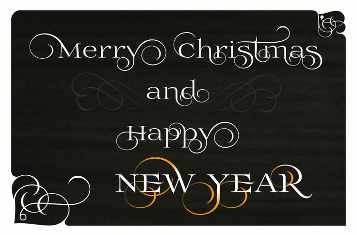 Merry Christmas and Happy New Year - font Prida