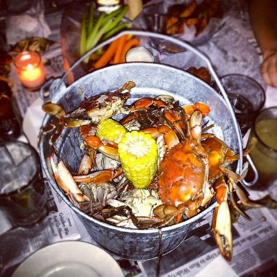 #crablove love this picture from our diner at our Crab Boil!