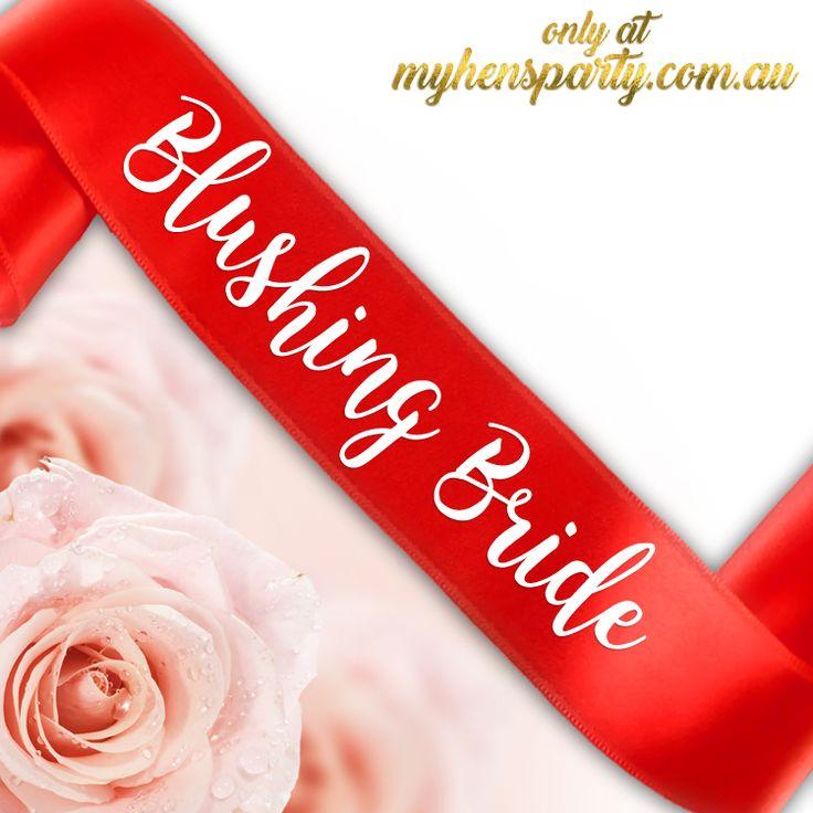 Blushing Bride Sash - Printed or Glitter