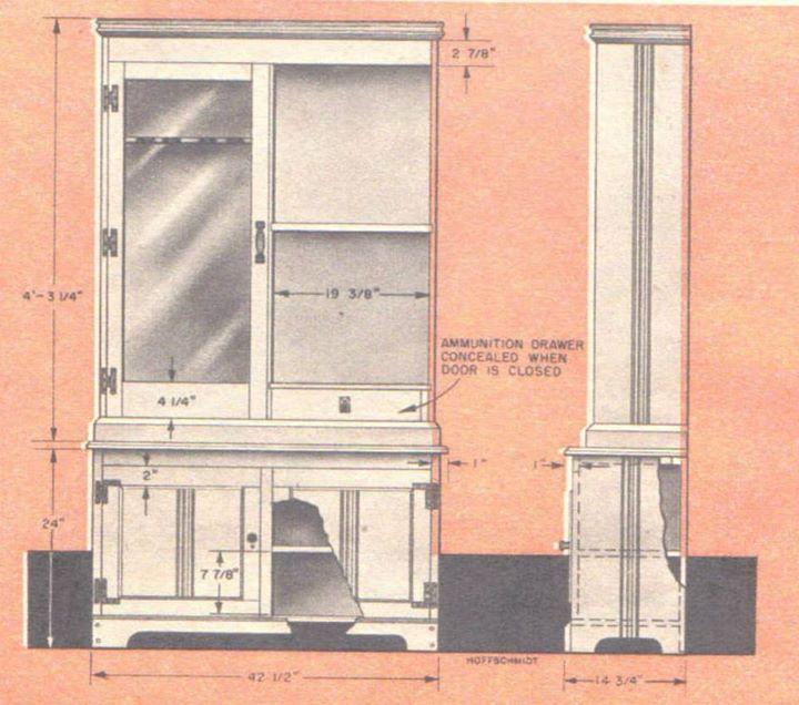 Blueprint gun cabinet blueprint cabinet made from vertical wall gun diy corner gun cabinet blueprints malvernweather Gallery
