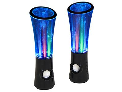 Spoil the music lovers in your life with these Lumisource Boom2o Speakers. Not only do they dish out incredible sound, but they bring your favorite music to life with a volume-sensitive dancing light show!