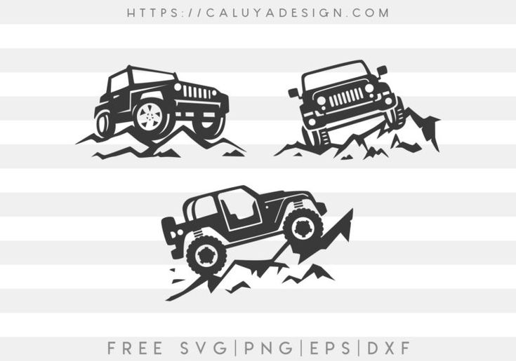 Download Free Jeep On Mountain SVG, PNG, EPS & DXF by in 2020 (With ...