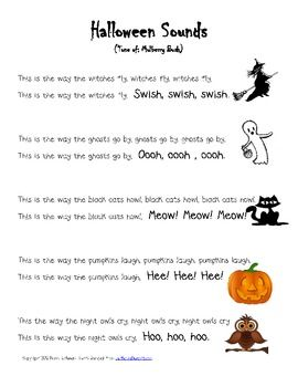 halloween poem great for fluency practice and drama create necklaces or headbands for students to wear during dramatizations with the cards included - Cute Halloween Poem