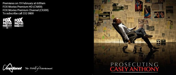 PROSECUTING CASEY ANTHONY - A riveting, true-life drama based on the infamous Casey Anthony murder trial that shocked and enraged the American public.