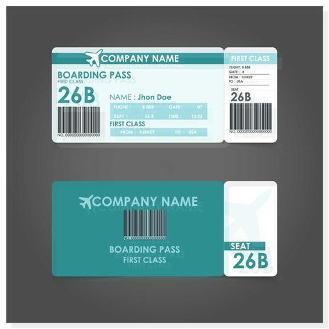 Boarding Pass Template - FREE