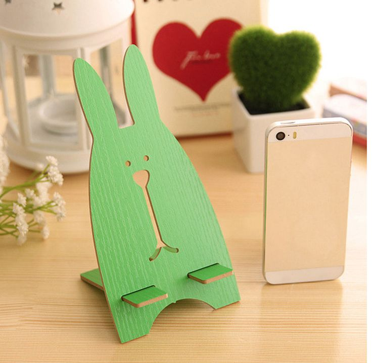 """Подставка для телефона """"Заяц"""", зеленая  - Магазин подарков """"Patrique-boutique"""""""