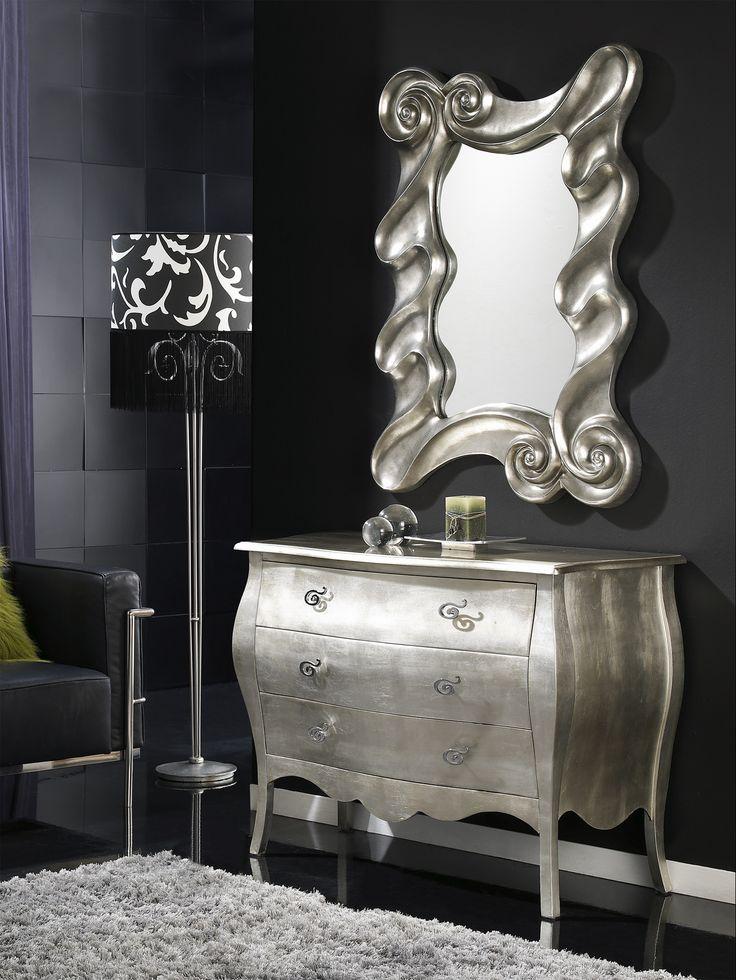 recibidor elegante espejos