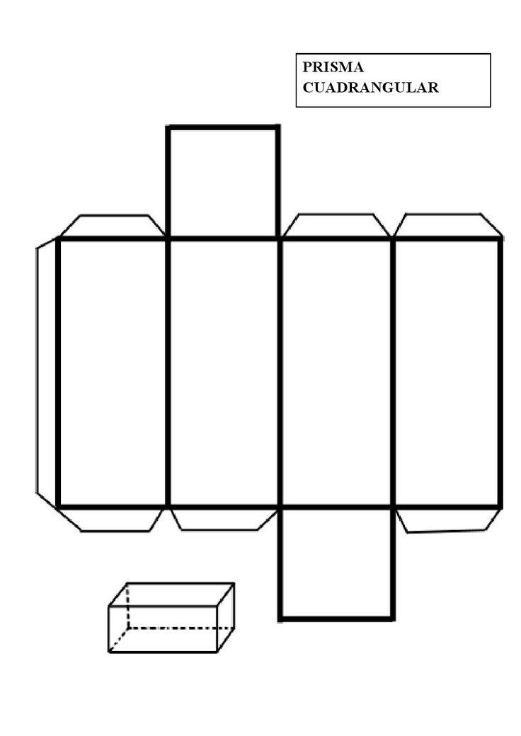 Patrón imprimible para construir un prisma cuadrangular. En geometría, un prisma es un poliedro con una base poligonal de n lados...