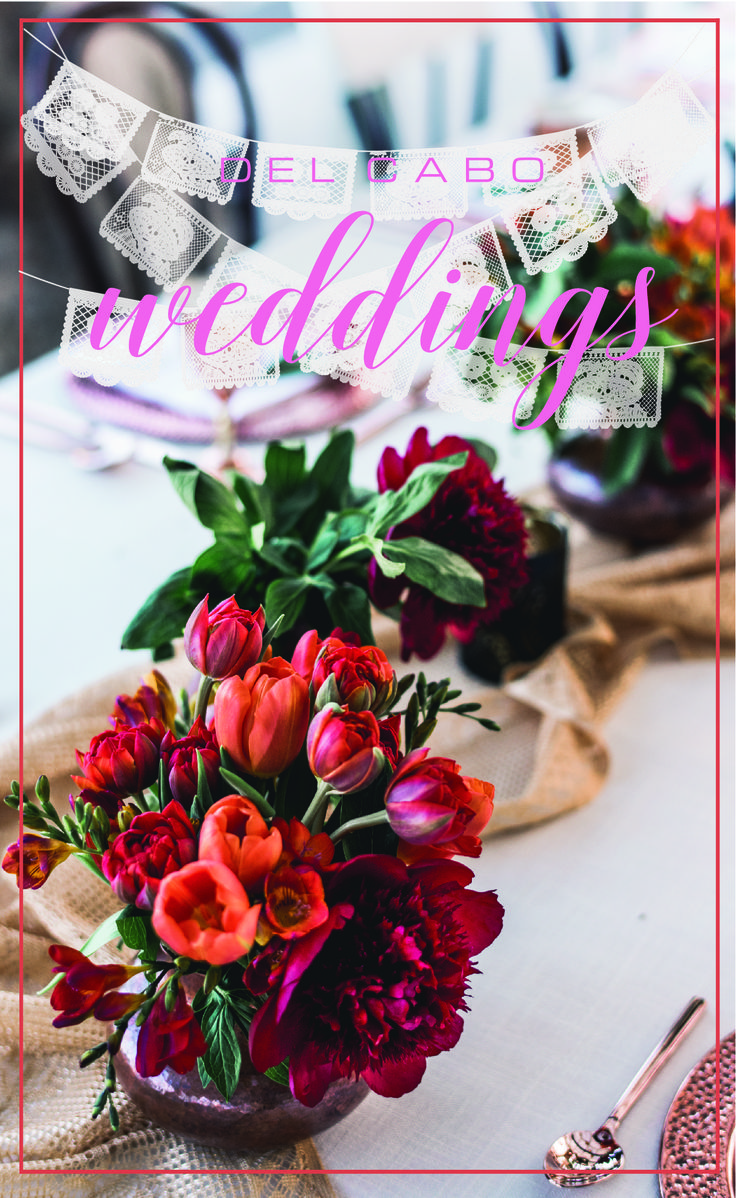 Flowers, papel picado, and bright colors! The key to success for a real Mexican Beach Wedding!  Click on the image to learn more about us!