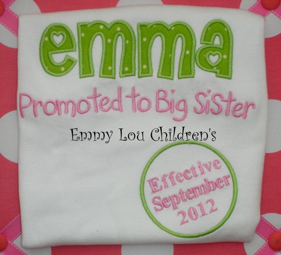 Baby Announcement Shirt  Perfect for Brother by EmmyLouChildrens, $24.00
