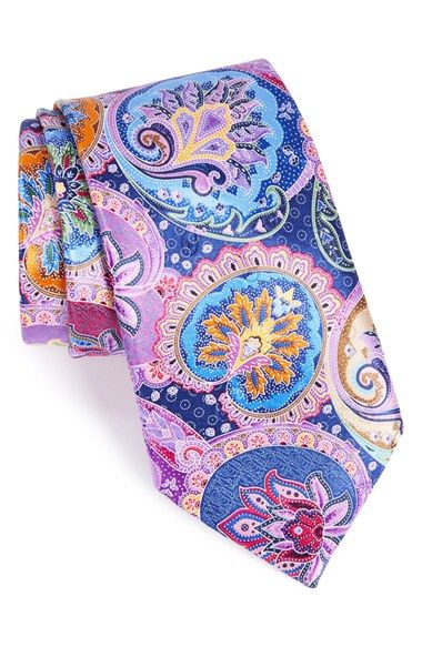 Ermenegildo Zegna 'Venticinque' Paisley Silk Tie available at #Nordstrom THESE TIES ARE BEAUITFUL!!! 25 different colors, hand dipped