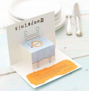 Zum Selbermachen: Klappkarte - einladung-zum-essen