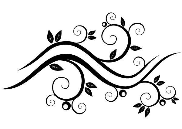 Vector Abstract Wavy Floral Design Free Vector
