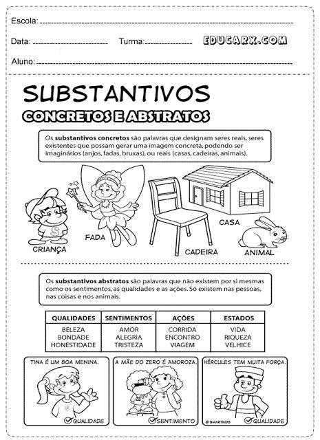 Substantivos abstratos lista