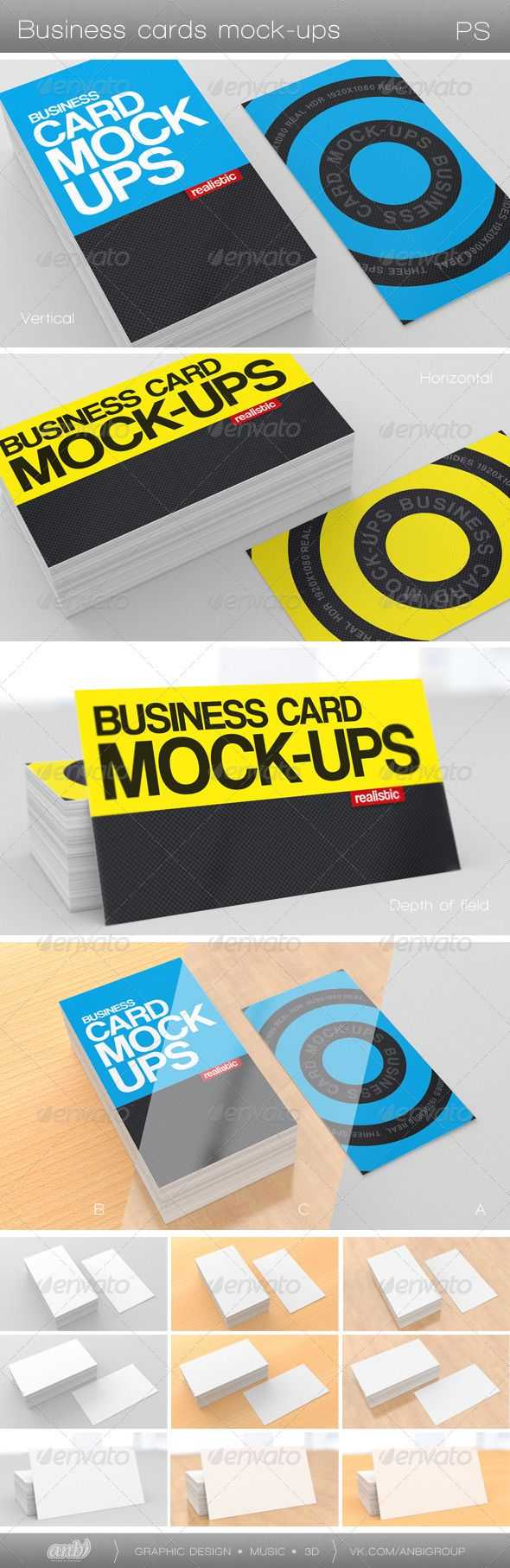717 best Business Card Mockup images on Pinterest | Miniatures ...