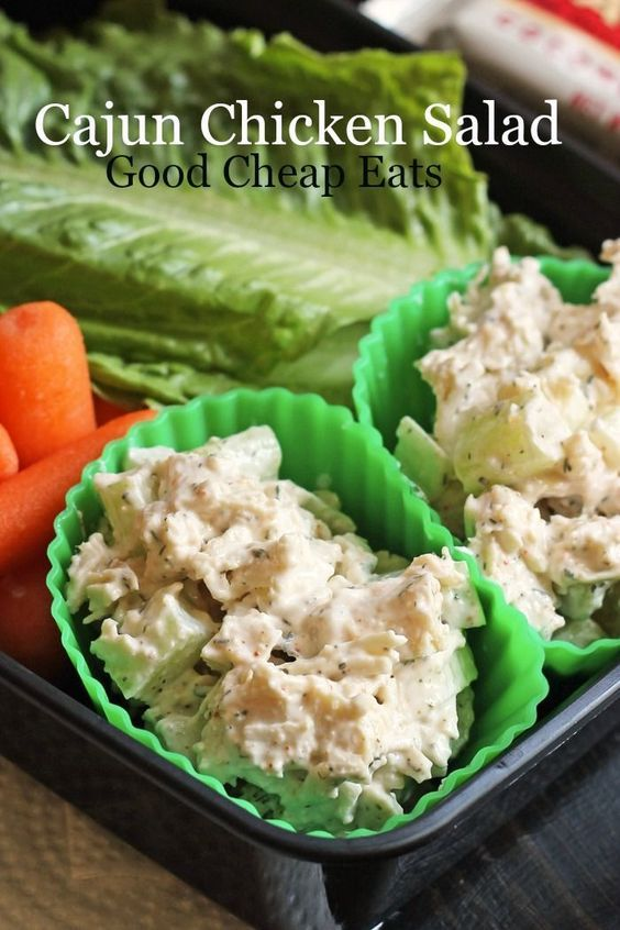 Cajun Chicken Salad Good Cheap Eats - This creamy Cajun Chicken Salad gets a kick from a custom blend and crunch from crisp celery. It's great in lettuce wraps or on rolls.