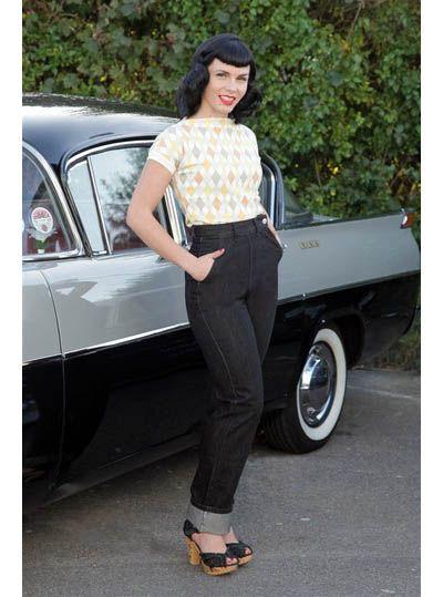 Ton Up Jeans Black Freddies of Pinewood.
