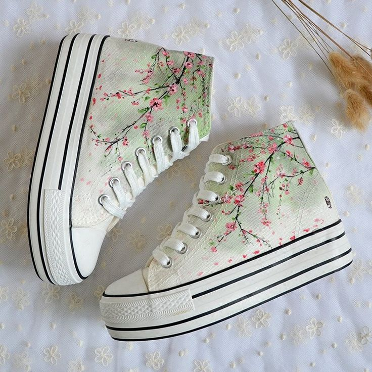Spring Blossom Hightops Platform Shoes SP178695